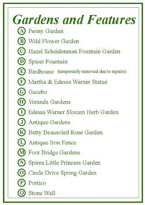 Gardens and Features